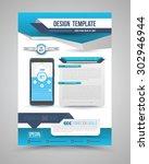 template modern origami design... | Shutterstock .eps vector #302946944