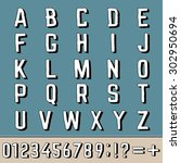 alphabet  letters and numbers.... | Shutterstock .eps vector #302950694