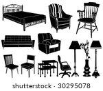 furniture | Shutterstock .eps vector #30295078