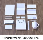 mock up render. brand identity... | Shutterstock . vector #302951426