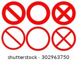 red not sign on white background   Shutterstock . vector #302963750