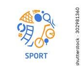 logo for children's sports... | Shutterstock . vector #302981360