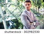 portrait of a confident... | Shutterstock . vector #302982530