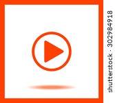 play button | Shutterstock .eps vector #302984918