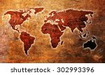 Grunge Vintage Map Of The World