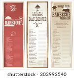 vintage barbecue poster | Shutterstock .eps vector #302993540
