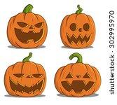 pumpkins for halloween. vector. | Shutterstock .eps vector #302995970