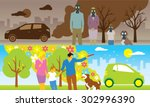 illustration of comparison... | Shutterstock .eps vector #302996390