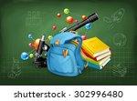 welcome back to school.... | Shutterstock .eps vector #302996480