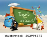 back to school  studying and... | Shutterstock .eps vector #302996876