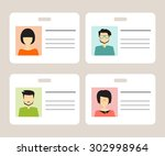 id card for businessman set | Shutterstock .eps vector #302998964