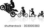 sports motorcycle start... | Shutterstock .eps vector #303000383