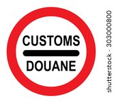 translation for customs round... | Shutterstock .eps vector #303000800