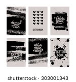 set of vector ink graphic... | Shutterstock .eps vector #303001343