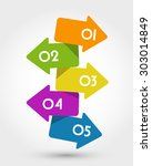 big colorful arrows.... | Shutterstock .eps vector #303014849