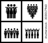 team work digital design ... | Shutterstock .eps vector #303017960