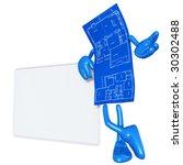 home construction blueprint | Shutterstock . vector #30302488