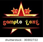 neon at star | Shutterstock .eps vector #30302722