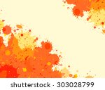 vibrant bright orange... | Shutterstock .eps vector #303028799