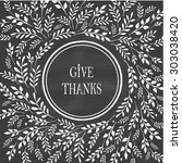 card for thanksgiving day on... | Shutterstock .eps vector #303038420