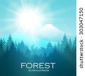 modern shining landscape... | Shutterstock .eps vector #303047150