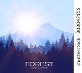 modern shining landscape... | Shutterstock .eps vector #303047153