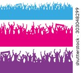 seamless wallpaper from fans... | Shutterstock .eps vector #303048299