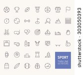 sport outline icons for web and ... | Shutterstock .eps vector #303050393