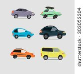 city car | Shutterstock . vector #303053204