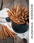 Brown Cinnamon Sticks In A...