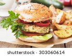 Vegan Burger With Tomato And...