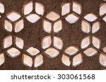 detail of a stone window... | Shutterstock . vector #303061568