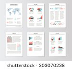 set of templates for business... | Shutterstock . vector #303070238
