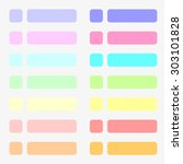 14 sets of flat buttons in pale ... | Shutterstock .eps vector #303101828