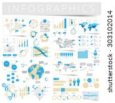 infographics with data icons ... | Shutterstock .eps vector #303102014