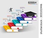 books step business education...   Shutterstock .eps vector #303102446
