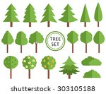 trees collections set design ... | Shutterstock .eps vector #303105188