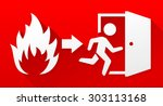 fire evacuation sign | Shutterstock .eps vector #303113168