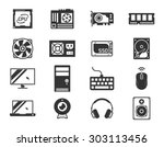 computer components icon set ... | Shutterstock .eps vector #303113456