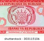 20 burundian francs. burundian...   Shutterstock . vector #303115106
