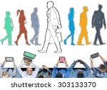individually different decision ...   Shutterstock . vector #303133370