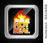 hot deal design  vector... | Shutterstock .eps vector #303136508