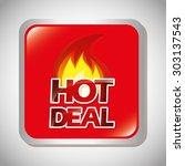 hot deal design  vector... | Shutterstock .eps vector #303137543