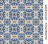 gorgeous seamless patchwork... | Shutterstock .eps vector #303142004