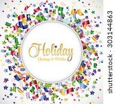 confetti colorful vector on... | Shutterstock .eps vector #303144863