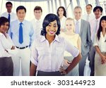 business people team success... | Shutterstock . vector #303144923