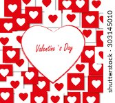 valentines day card | Shutterstock .eps vector #303145010