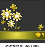 pattern with cartoon  flowers...   Shutterstock .eps vector #30314851