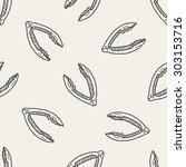 nutcracker doodle seamless... | Shutterstock .eps vector #303153716
