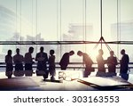 business people japanese... | Shutterstock . vector #303163553